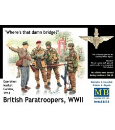 1:35 Британски парашутисти, 1944. Кит 1 - 4 фигури