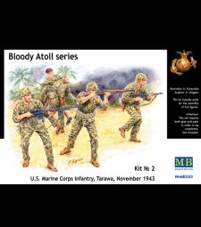 1:35 Серия Кървав атол. Кит № 2, пехота на морския корпус на САЩ, Тарава, ноември 1943 г. - 4 фигури