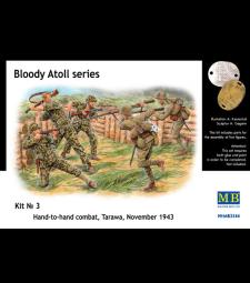 1:35 Серия Кървав атол. комплект N3, Ръкопашен бой, Тарава, Ноември 1943 - 5 фигури