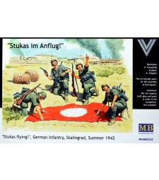 1:35 Щуки атакуват!, Немска пехота, Сталинград, Лятото на 1942 - 4 фигури