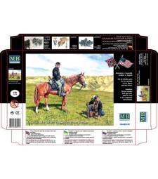1:35 Американска гражданска война, разузнавач и следотърсач  - 2 фигури (U.S. Civil War Series: Yankee Scout and Tracker  - 2 figures)