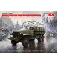 1:35 Камион Studebaker US6 със съветски шофьори от Втората световна война