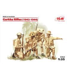 """1:35 Непалски стрелци """"Гурка"""" (1944) (4 фигури)"""