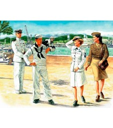 1:35 Жени на военна служба, Американски флот - 4 фигури (Women at War: US Navy WAVES - 4 figures)