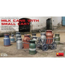 1:35 Бидони за мляко с малка количка (Milk Cans with Small Cart)