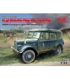 1:35 le.gl.Einheitz-Pkw Kfz.1 Soft Top, WWII German Light Personnel Car