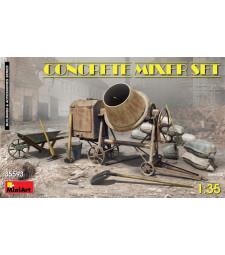 1:35 Комплект бетонобъркачка и строителни материали (Concrete Mixer Set)