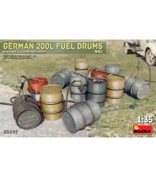 1:35 Германски варели за гориво (200 L) от периода на Втората световна война (German 200L Fuel Drum Set WW2)