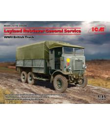 1:35 Британски камион с общо предназначение от Втората световна война Leyland Retriever (100% нова матрица)