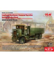 1:35 Британски камион от Втората световна война с общо предназначение Leyland Retriever (ранно производство)