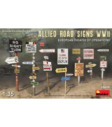 1:35 Съюзнически Пътни Знаци от Втората Световна Война