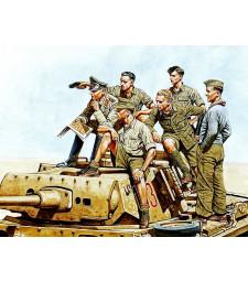 1:35 Генерал Ромел и немски танков екипаж - 6 фигури (Rommel and German Tank Crew, DAK, WW II era  - 6 figures)