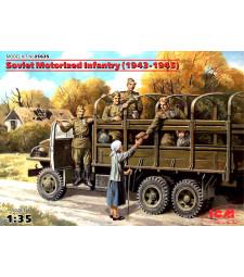 1:35 Съветска моторизирана пехота (1943-1945) (5 фигури)