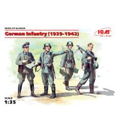 1:35 Германска пехота (1939-1941) (4 фигури) (100% нови отливки)