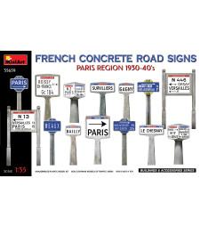 1:35 Френски бетонни пътни знаци 1930-40-те.Регион Париж
