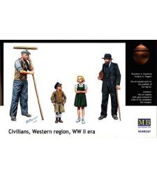 1:35 Цивилни, Западен регион, епохата на Втората световна война - 4 фигури