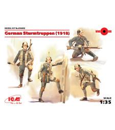 1:35 Германски шурмови отряд (1918) (4 фигури) (100% нови отливки)