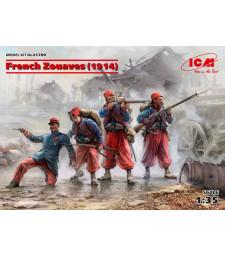 1:35 Френски зуави (1914) - 4 фигури (100% нови отливки)