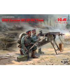1:35 Германски картечари от Първата световна война с картечница MG08 MG - 2 фигури (100% нови отливки)