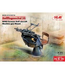 1:35 Zwillingssockel 36, германска зенитна картечница от Втората световна война (100% нови матрици)