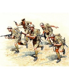 1:35 Британски войници в действие - северна Африка - 5 фигури (British Infantry in action, Northern Africa, WW II era  - 5  figures)