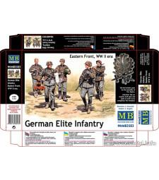 1:35 Германски елитни части, източен фронт - 5 фигури (German Elite Infantry, Eastern Front, WW II era  - 5  figures)