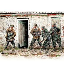 1:35 Гермаснки войници - западна Европа - 4 фигури  (German Infantry. Western Europe. 1944-1945  - 4  figures)