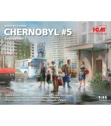 1:35 Chernobyl#5. Evacuation (4 adults, 1 child and luggage) (100% new molds)
