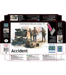 """1:35 """"Инцидент"""" Германски и руски войници, 1941 - 5 Фигури (Accident. Soviet & German military men, summer 1941  - 5  figures)"""