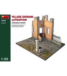 1:35 Диорама с фонтан (Village Diorama with Fountain)
