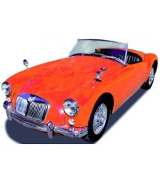 MG A Roadster orient red