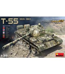 1:35 Съветски танк T-55 Модел 1963, с интериор (T-55 Model 1963 Interior Kit)