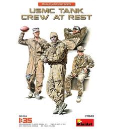 1:35 USMC екипаж на танк в почивка - 4 фигури