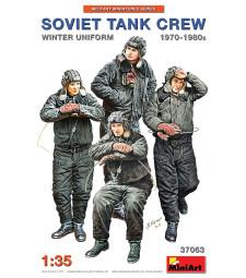 1:35 Съветски танков екипаж със зимни униформи (1970-1980) - 4 фигури (Soviet Tank Crew 1970-1980s. Winter Uniform)