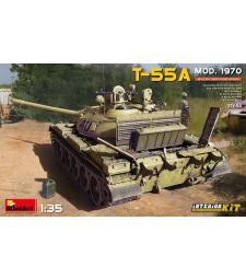 1:35 Съветски основен танк T-55A модел 1970 - модел с интериор