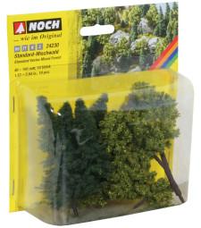 Смесена гора, 10 дървета, 4 - 10 cm