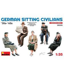 1:35 Германски седящи цивилни от 30-те и 40-те – 5 фигури