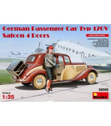 1:35 Германски лек автомобил седан Мерцедес Тип 170В (German Passenger Car Typ 170V Saloon 4 Doors) с 1 фигура