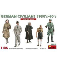 1:35 Германски граждани 1930-40s - 5 фигури