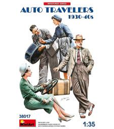1:35 Пътуващи на стоп 1930-40-та (Auto Travelers 1930-40s) - 4 фигури