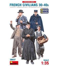 1:35 Френски цивилни от 30-те и 40-те (French Civilians '30-'40s. Resin Heads) - 5 фигури, с глави от смола