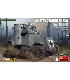 1:35 Брониран автомобил Austin 3-та серия: на служба в Германия, Австро-Унгария, Финландия - модел с интериор