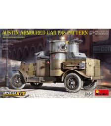 1:35 Брониран автомобил Austin, камуфлаж от 1918, Ирландия 1919-21, Британска армия - модел с интериор