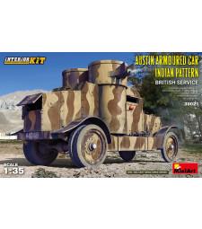 1:35 Брониран автомобил Austin с индийски камуфлаж, Британска армия - модел с интериор
