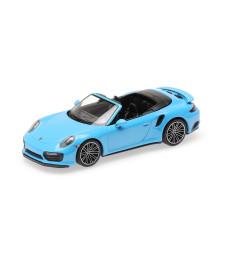 PORSCHE 911 (991.2) TURBO S CABRIOLET - 2017 - BLUE