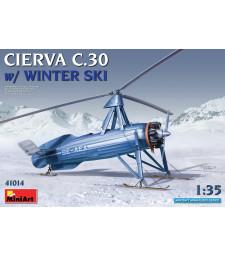 1:35 Автожир Cierva C.30 със зимни ски
