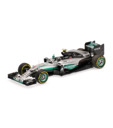 MERCEDES AMG PETRONAS FORMULA ONE TEAM F1 W07 HYBRID - ROSBERG - WORLD CHAMPION - ABU DHABI GP 2016