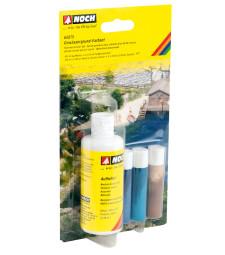Воден ефект: Комплект цветове за речно дъно - 1 x 100 ml, 3 x 10 ml