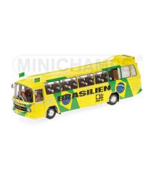 """MERCEDES-BENZ O302 - MANNSCHAFTSBUS """"BRASILIEN"""" - 1974 - L.E. 510 pcs."""