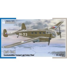 1:48 Двумоторен транспортен и тренировъчен самолет Aero C-3A  'Czechoslovakian Transport and Trainer Plane'